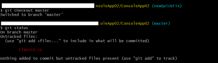 git status with uncommitted changes-2