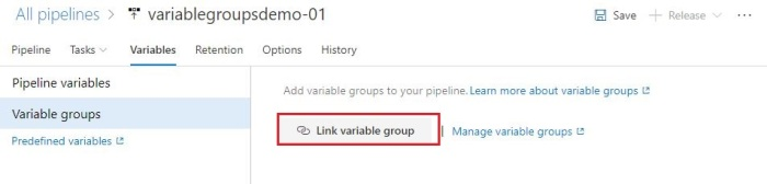 access variables from group by linking variable group