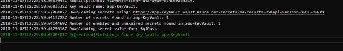 download secrets from azure key vault