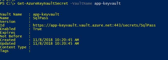 viewing secrets stored in azure key vault