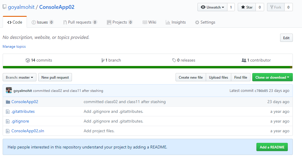 viewing source code repository in github