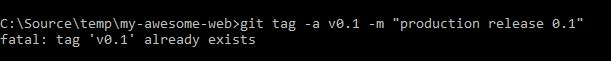 retagging fails with fatal error message by default