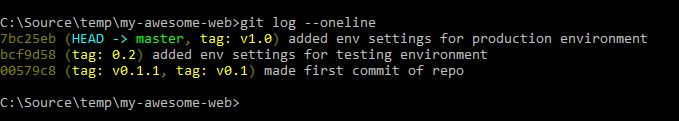view git history after adding missing tag
