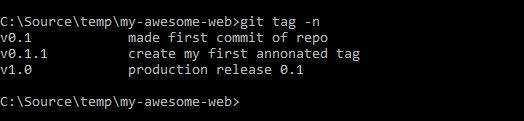 view tags in a git repo 02