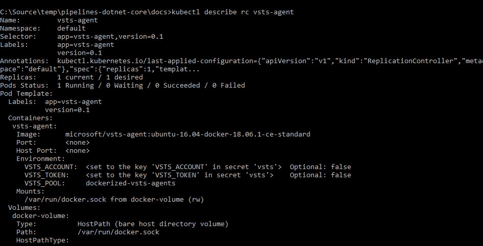 verify vsts agent is deployed successfully inside AKS