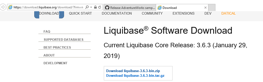 download liquibase zip file