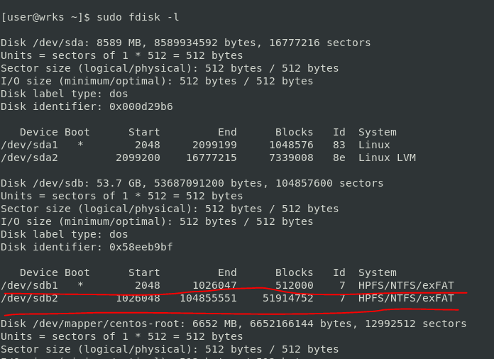 unrecognized ntfs disk in the linux
