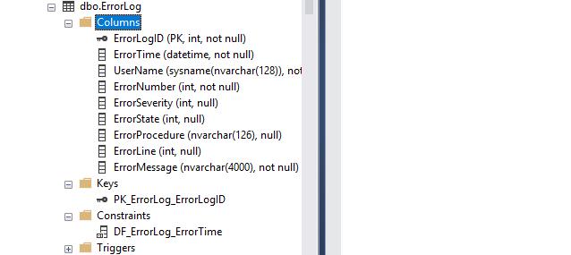 checking development db schema to verify table creation