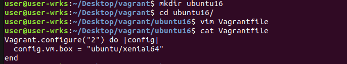 create and setup vagrant file for ubuntu xenial