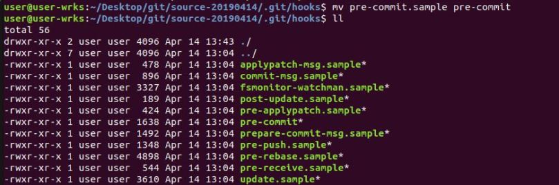 install pre-commit hook