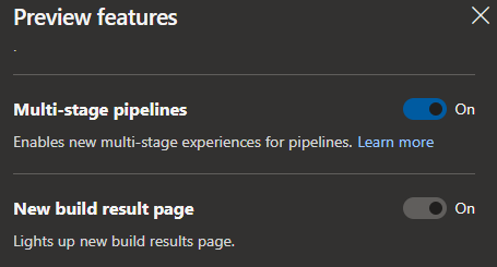 enable multi stage pipelines from preview features