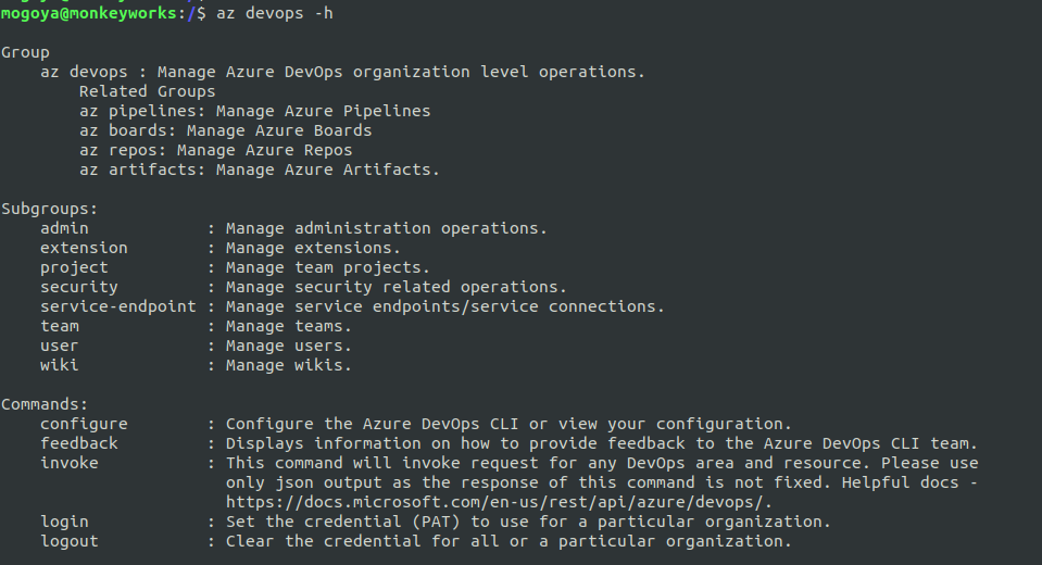 Working with Azure DevOps Pipelines using Command line